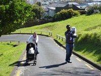 Subiendo el Mount Victoria
