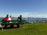 Disfrutando la vista subiendo el Mount Victoria