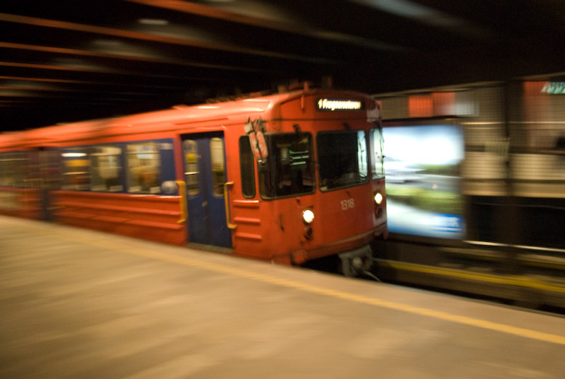 Underground in Oslo which is called the Tube