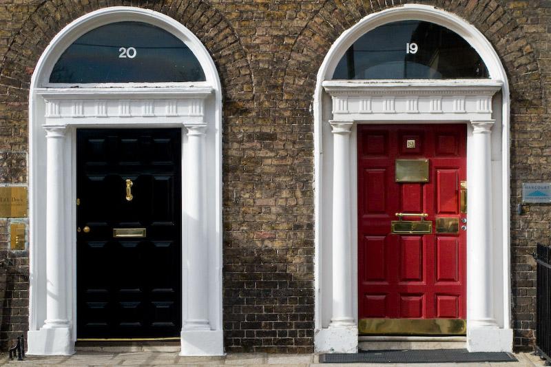 Two doors in Harcourt street
