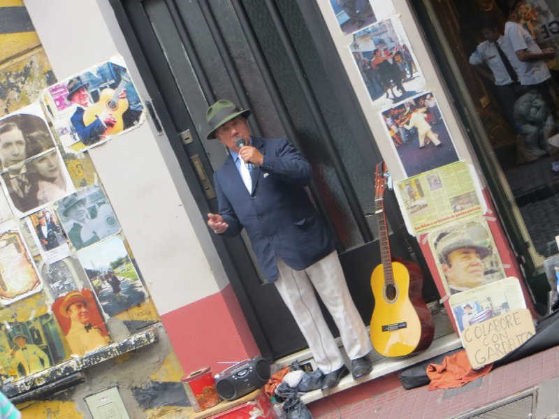 Mister singing at Feira de San Telmo ( Fair of San Telmo )