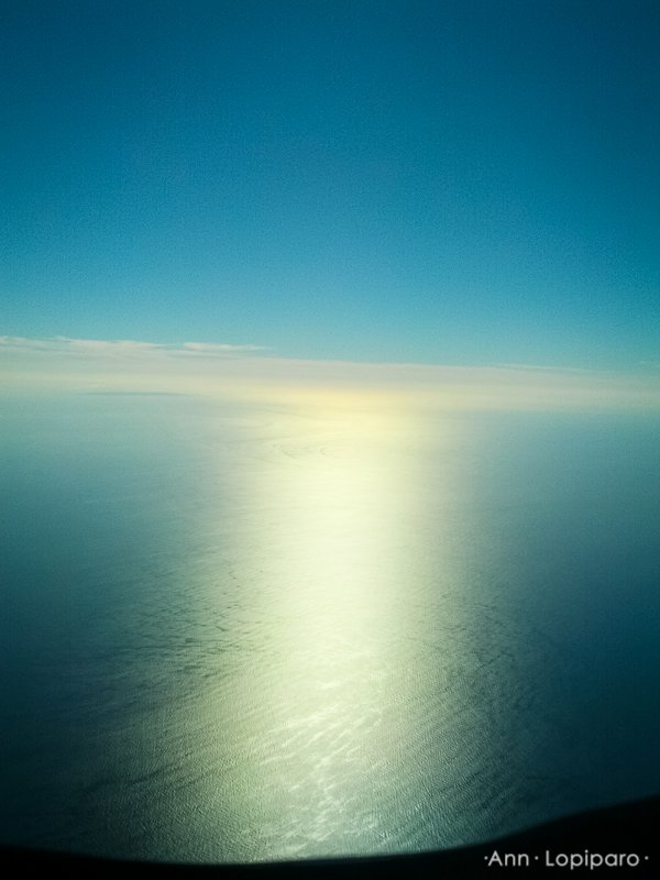 From our plane.