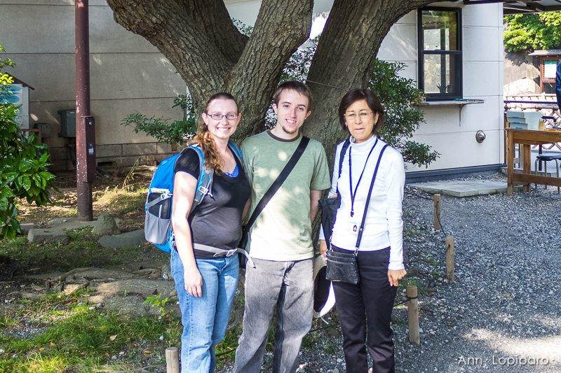 With Hiroko at Hamarikyu Gardens