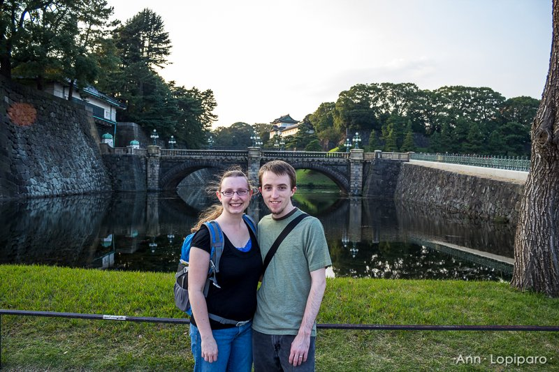 Tore and Ann at the Imperial Palace.
