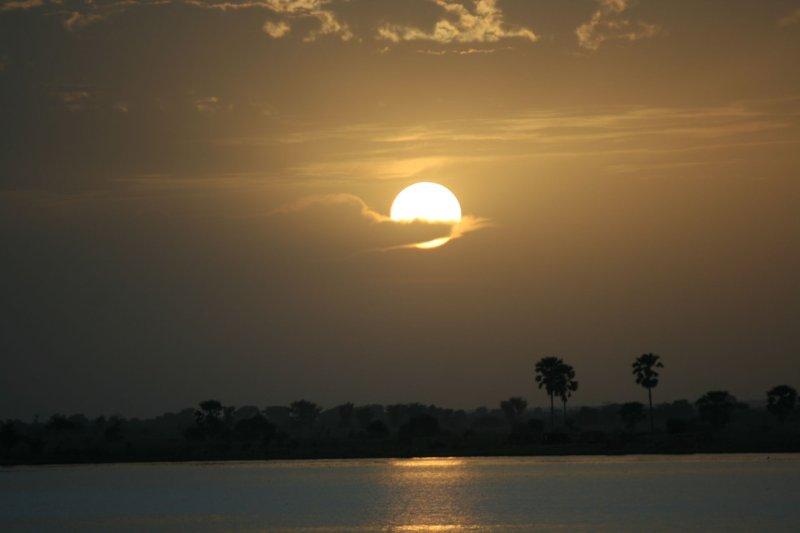 sunset over Niger - Segou 2