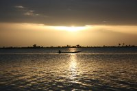 sunset over Niger in Segou