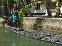 Backwaters near Kollam - daily life in the villages