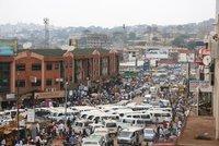Crazy traffic in Kampala