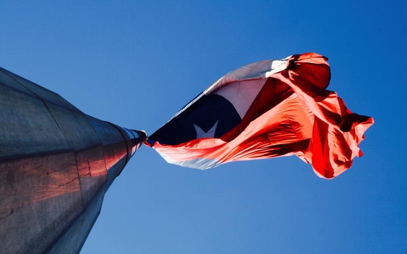 Chilean bicentennial flag