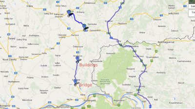 From: Mochovská to To: Unknown road - Google Maps - Chromium_002
