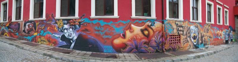 Mural in Plovdiv