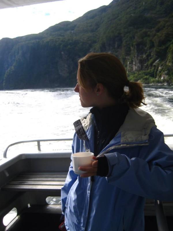 Free tea on the boat