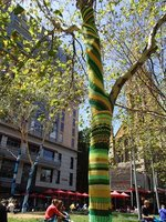 Melbourne yarn bombing