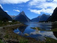 Milford Sound and Mitre Peak