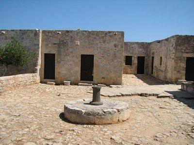 Courtyard inside Agios Ioannis monastery