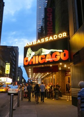 Chicago Broadway show in NYC