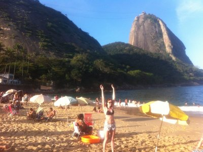 At the beach after sugarloaf mountain