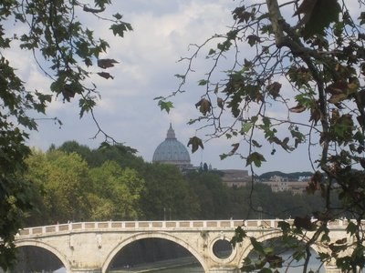 Rome - St Peters from the river