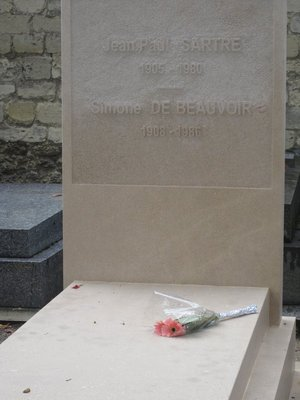 Tombstone of Jean-Paul Sartre