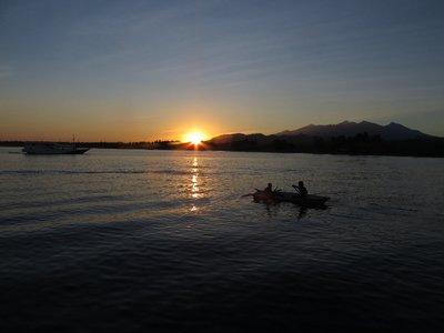 Sunrise at the port on Lombok