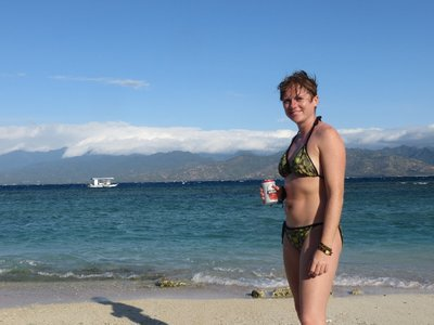 Mmm, a nice beer on Gili T after 3 days at sea