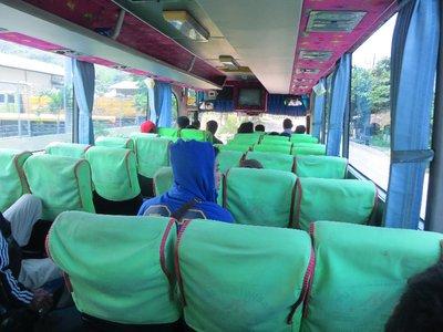 Local bus to Surabaya ('all buses full' my bottom!)