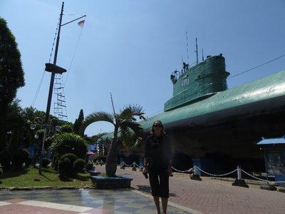 Ex-navy submarine in Surabaya
