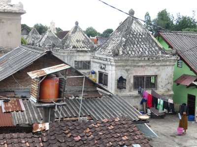 Rooftops and laundry of Yogya