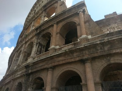 Side view of the Colosseum