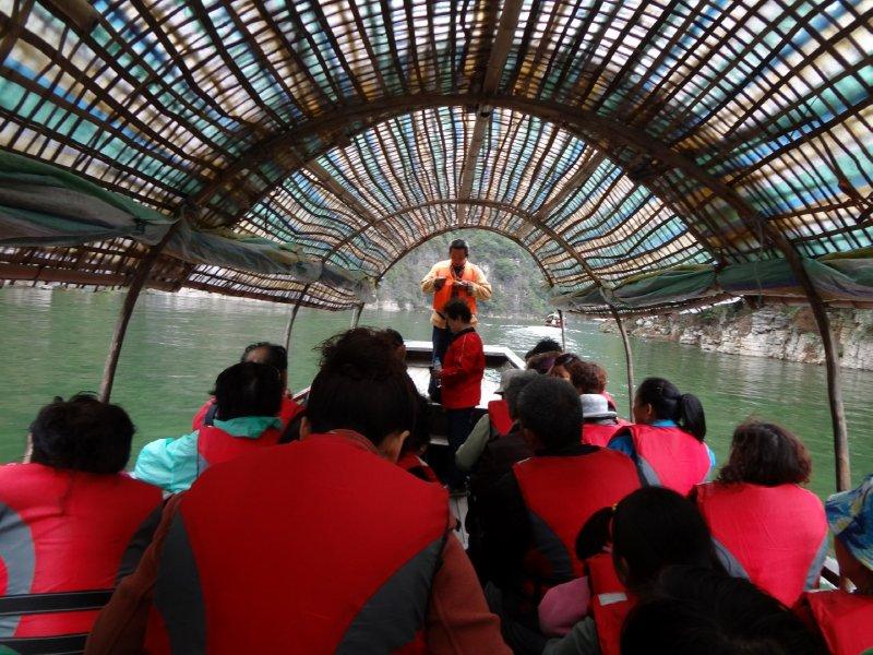 Ausflug in kleinen Booten