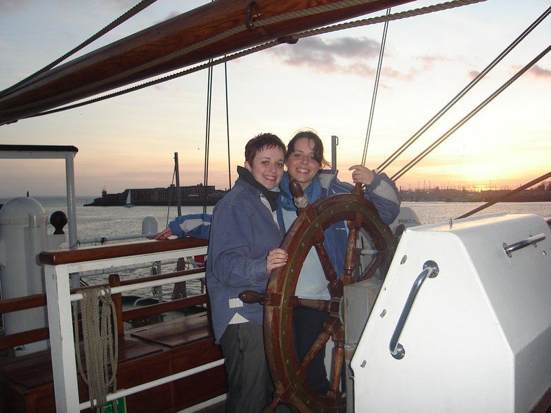 Natz & I at the helm