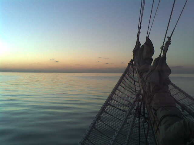 Flat Calm Under the Bowsprit