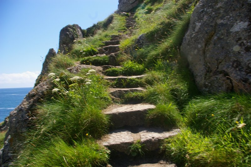 A stair in the cliff