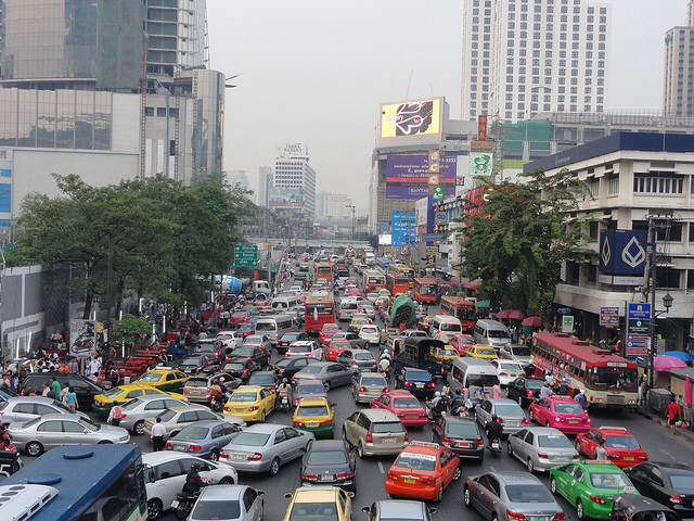 Typical Bangkok traffic