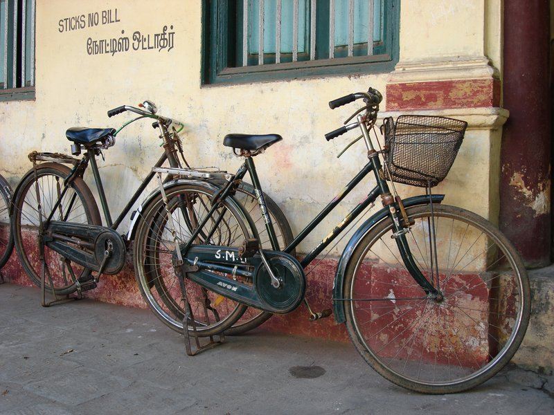 Bicycles Outside Shop in Pondicherry