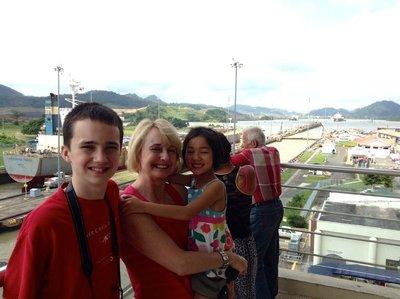 Watching ships go through the Panama Canal