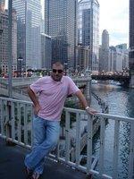 Me blocking the chicago skyline