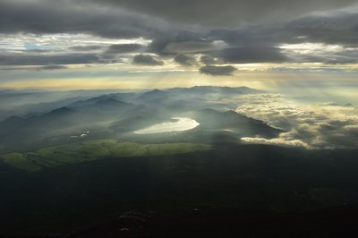 Blick auf den Yamanaka-ko-See