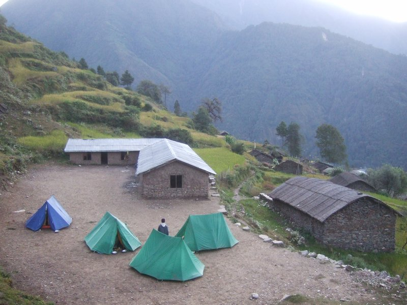 camping during trekking