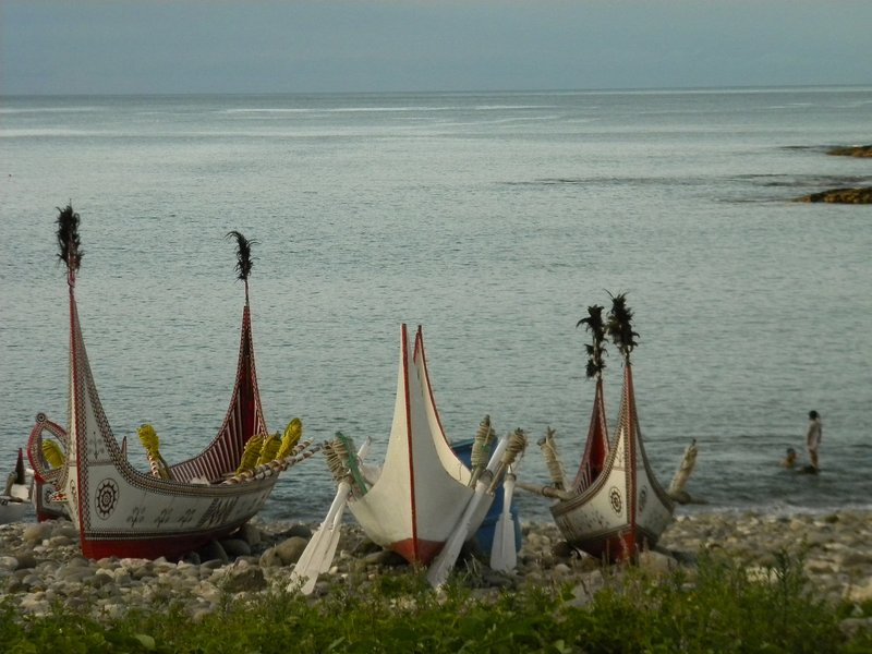 Aboriginal Boats on Orchid Island