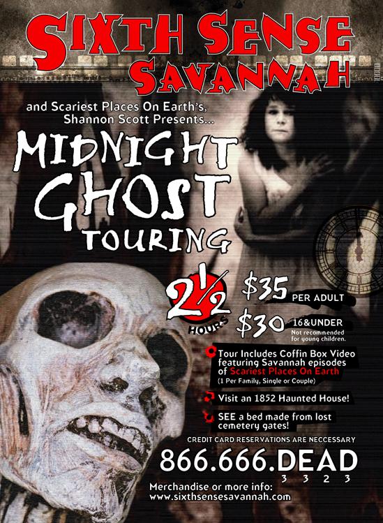 Sixth Sense Savannah Midnight Tour Poster