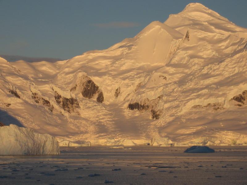 glowing glacier