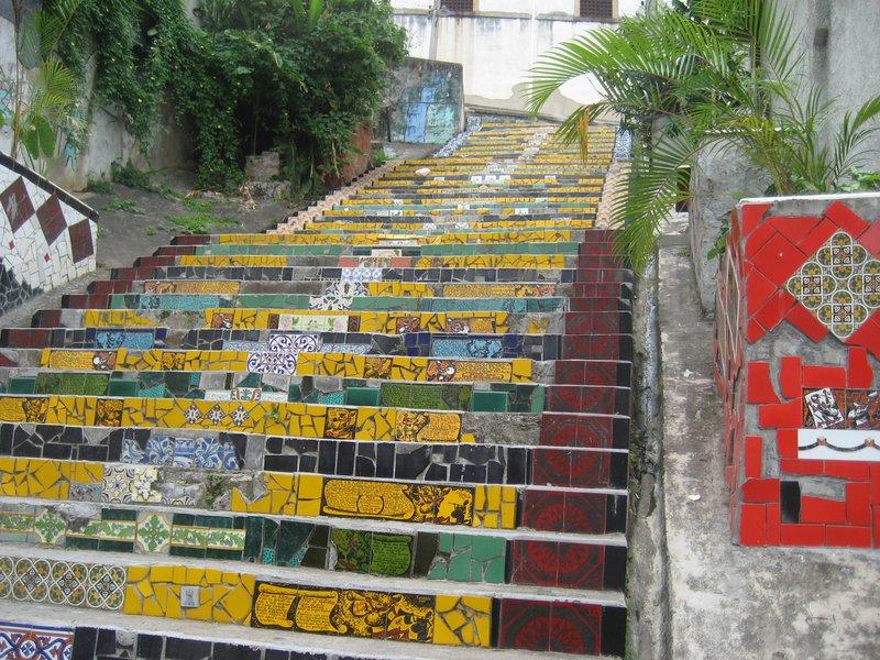 Multi-coloured steeps in Santa Tereasa