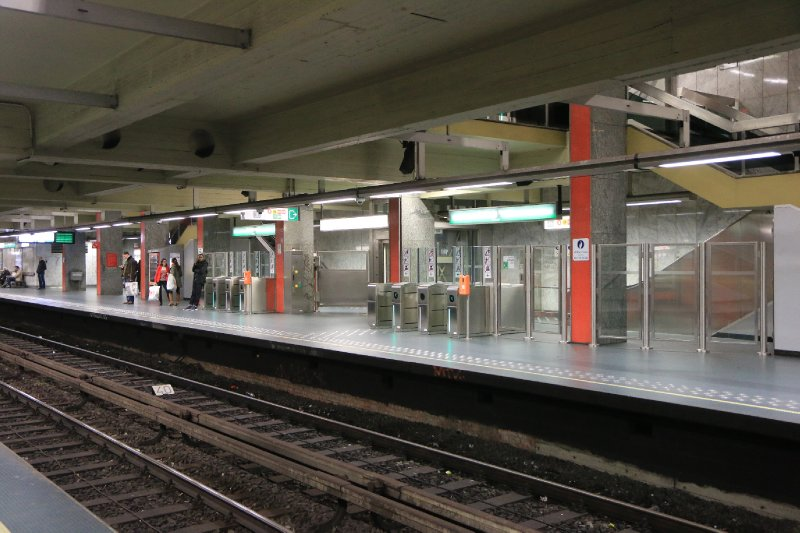 A typical Brussels railway station