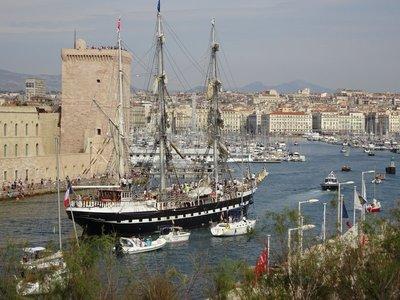 L'entrée du Belem dans le Vieux Port