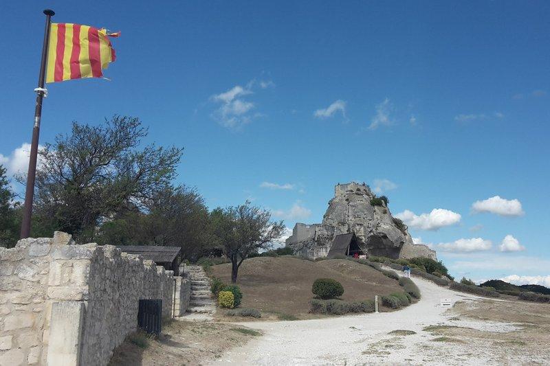 Les ruines du château des Baux