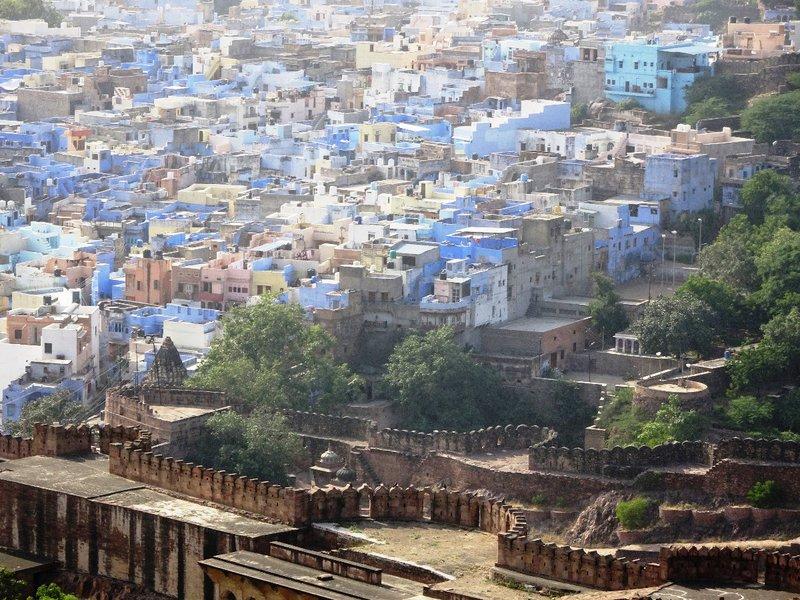 Les maisons bleues de Jodhpur