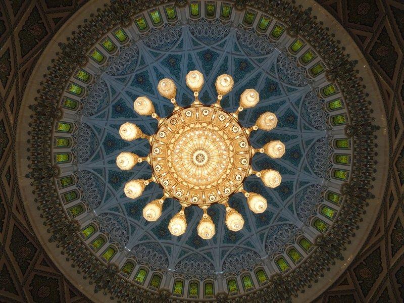 Sous la coupole de la grande mosquée