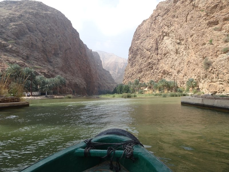 L'entrée du Wadi Shab