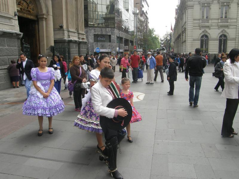 Danse dans la rue à Santiago